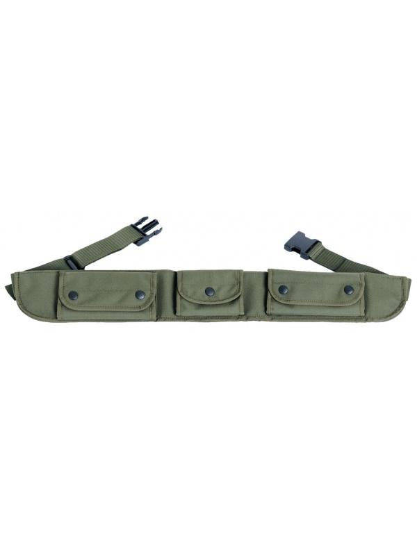 Pás Dasta * 306-4 * Lovecký pás kulobrokový, 3kapsový, textilní