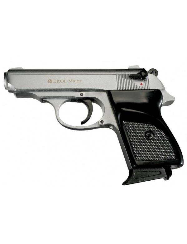 Plynová pistole Ekol Major M 88, r.9 P.A. White (matný chrom)