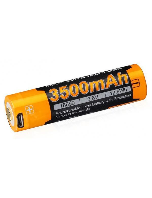 Baterie dobíjecí USB baterie Fenix 18650 3500 mAh (Li-ion) FE18650LI35USB