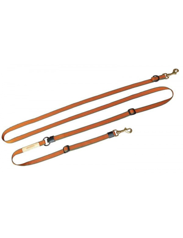 Vodítko Niggeloh - DE LUXE, nylon, oranžovo-zelený, 20mm, 1,7-3,8m (111100012)