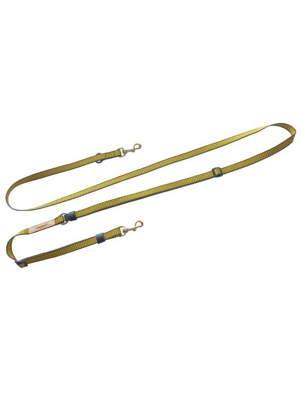 Vodítko Niggeloh - DE LUXE, nylon, žluto-zelené, š. 20mm, d. 1,7-3,8m (131100007)