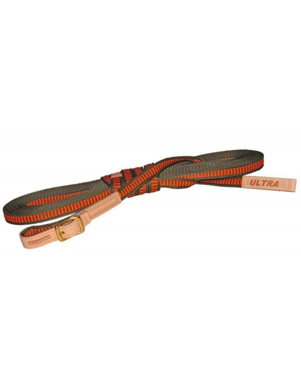 Vodítko Niggeloh - ULTRA, 20mm, š.12m, nylon, oranžovo-zelené (161700006)