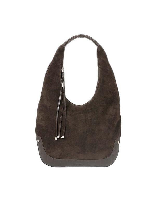 **Kabelka Baron Classic - Handbags Baggy Bag Coffee suede (2809-02) 34x47x7