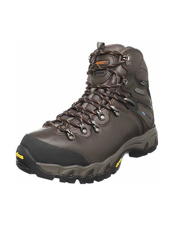**Boty HI-TEC - Rainier eVent WPi - vyšší hnědá celokožená bota, celoroční