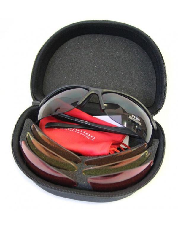 Střelecké brýle EVO - Flight 4 (Gray), 4 výměnná skla (šedá, žlutá, oranžová, růžová)