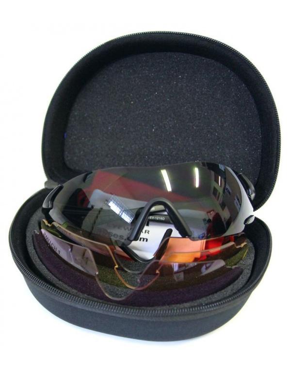 Střelecké brýle EVO - Switch 4, 4 výměnná skla (šedá, žlutá, oranžová, fialová)