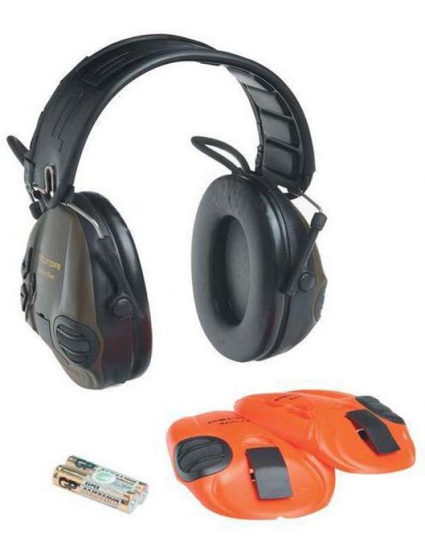 Sluchátka Peltor - SPORTTAC, zelené/oranžové