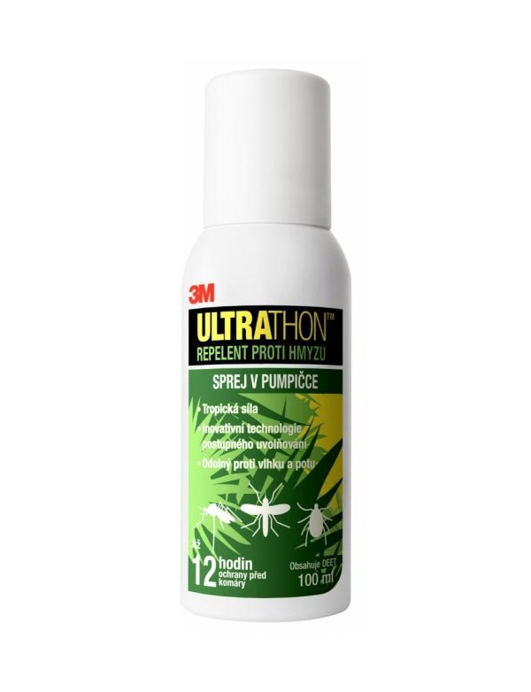 Repelent Ultrathon sprej v pumpičce - 100ml na klíš´tata a bodavý hmyz