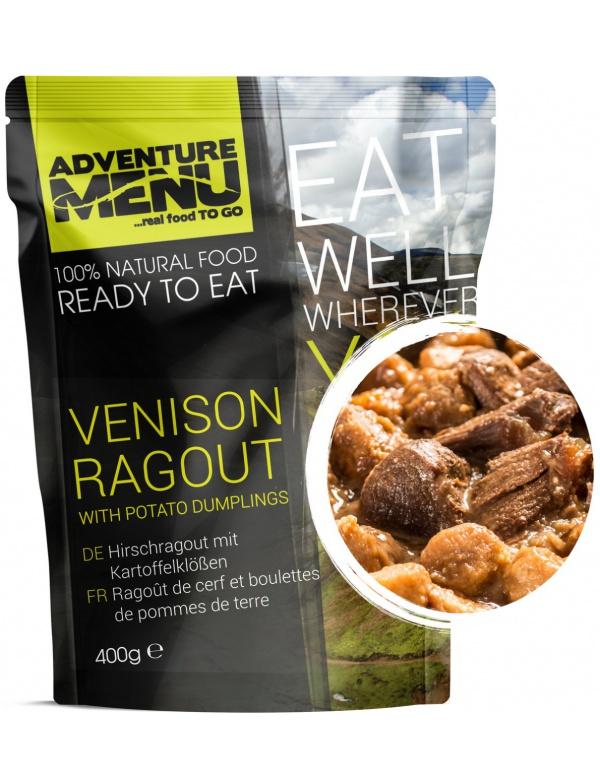 Jídlo AM * Jelení ragú s bramborovými špalíčky, 400g, samoohřev, Adventure Menu