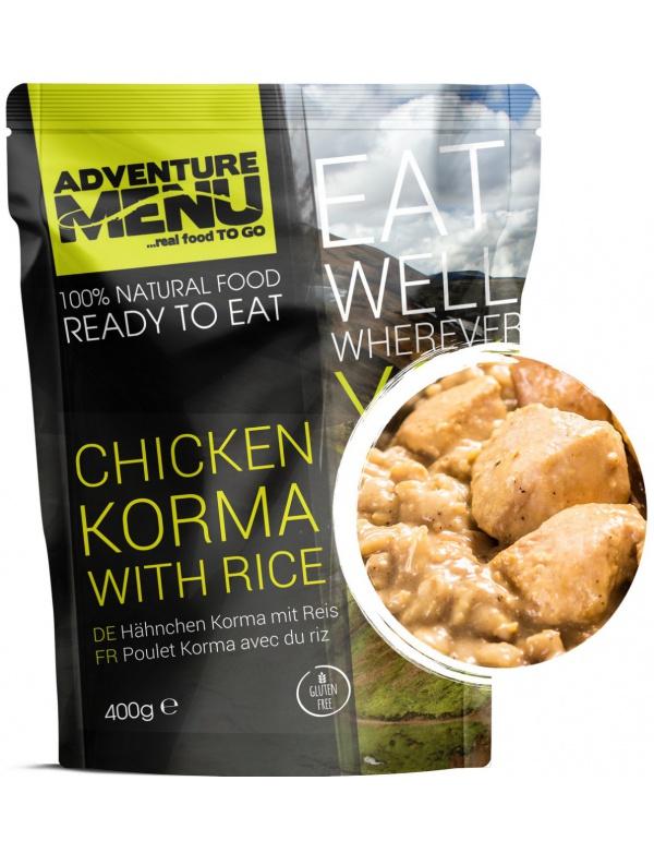 Jídlo AM * Kuře Korma s rýží, 400g, samoohřev, Adventure Menu