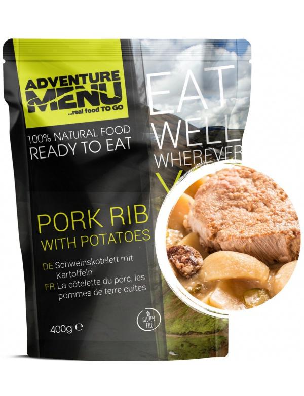 Jídlo AM * Vepřové žebírko s bramborem, 400g, samoohřev, Adventure Menu