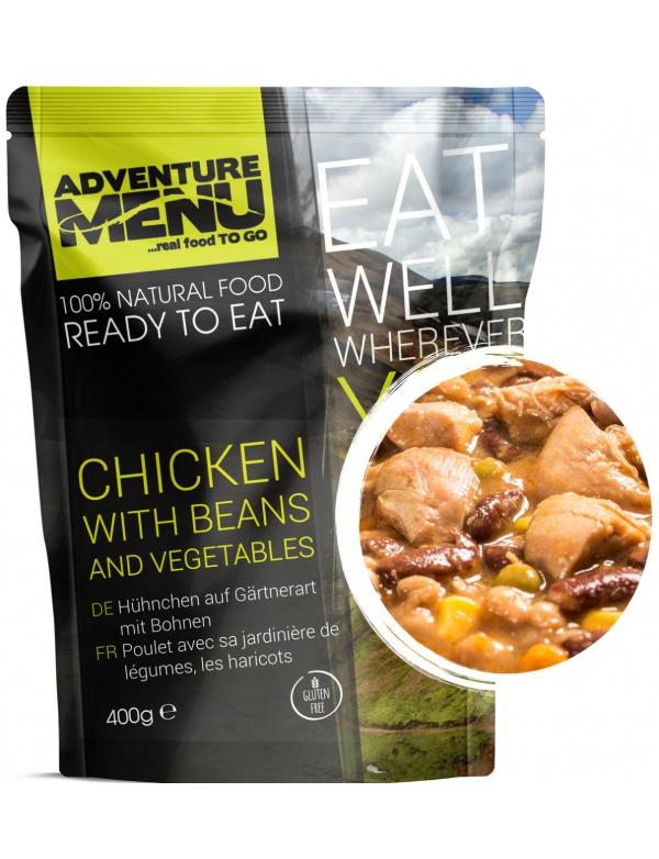 Jídlo AM * Kuře po zahradnicku s fazolemi, 400g, samoohřev, Adventure Menu