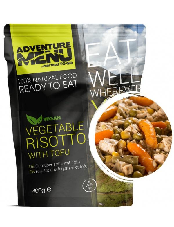 Jídlo AM * Zeleninové rizoto s Tofu, 400g, samoohřev, Adventure Menu