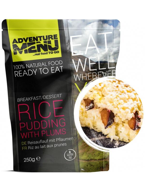 Jídlo AM * Rýžový nákyp se švestkami, 200g, samoohřev, Adventure Menu