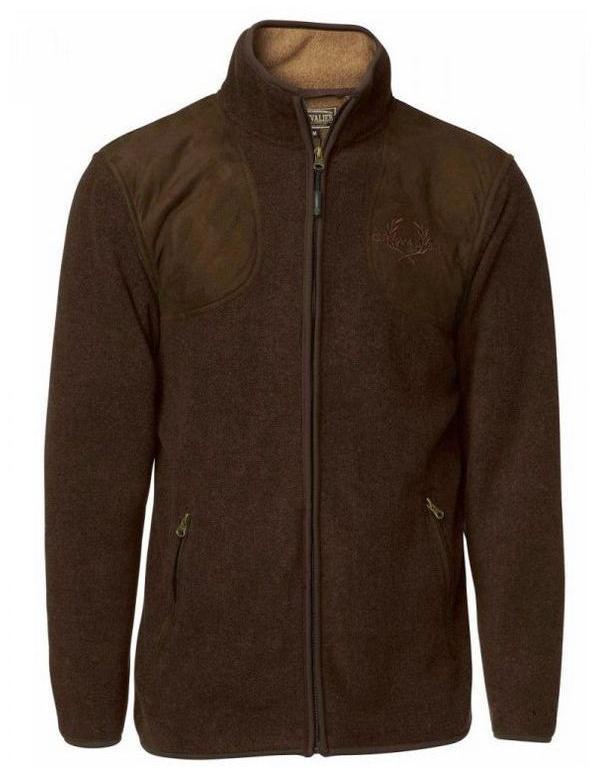 Pulovr Chevalier - BELCHER FLEECE CARDIGAN, fleecový pulover, hnědý (5469B)