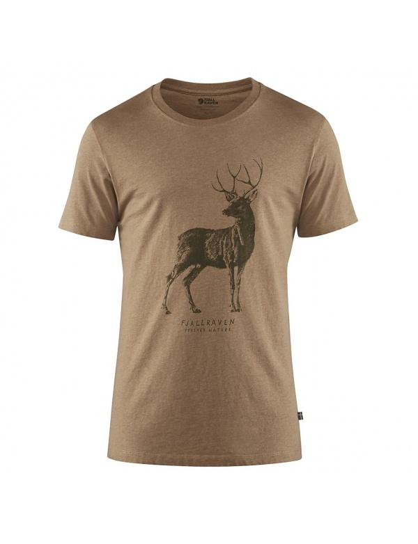 Triko Fjällräven Deer Print T-Shirt M (87223)kr. rukáv, barva 227