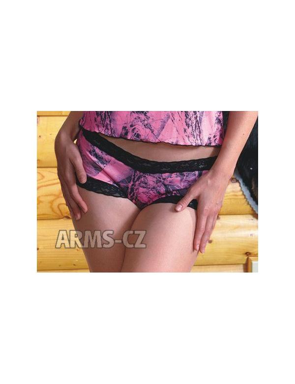 Kalhotky Wilderness - NN Pink Lace Boy Short (602239) - VZOROVÁ