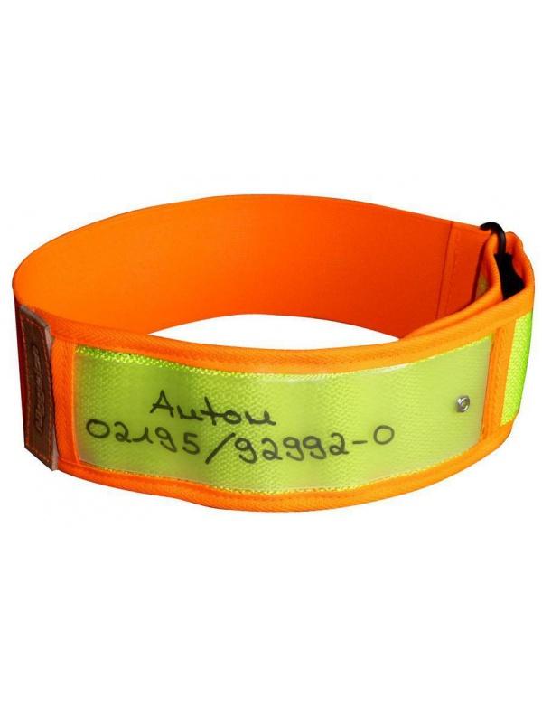 Obojek Niggeloh - Reflexní Collar, oranžovo-žlutý