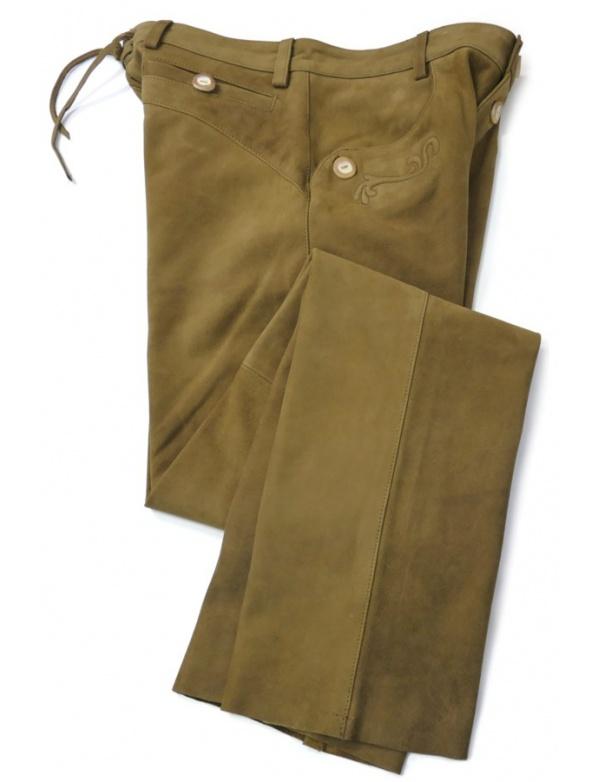Kalhoty Fuente kožené - světle hnědé (234BUCL)