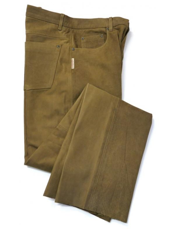 Kalhoty Fuente kožené - světle hnědé (501BUCL)