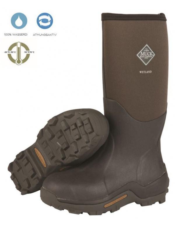 Holinky MUCKBOOT - Wetland tan/bark braun vel. 37-49 (WET-998K)
