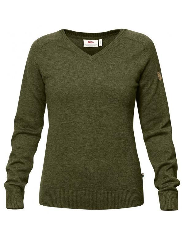 Svetr Fjällräven Sörmland V-neck Sweater W (90177), dámský, Merino, barva 633
