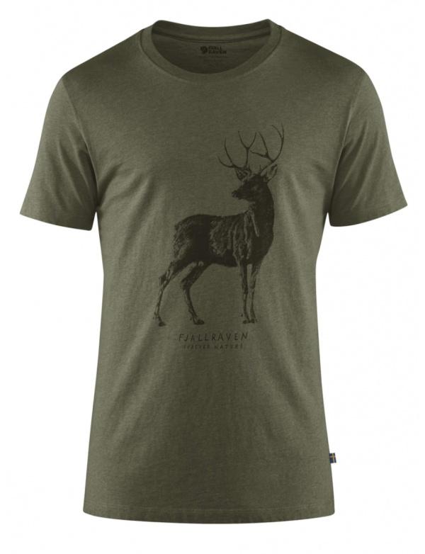 Triko Fjällräven Deer Print T-Shirt W (89879), kr. rukáv, barva 246