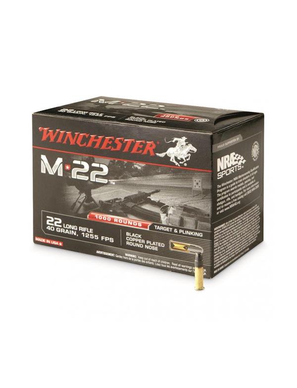 Náboj Winchester 22 LR M*22 40gr. 1255 FPS, bal.500 ks (WS22LRT)