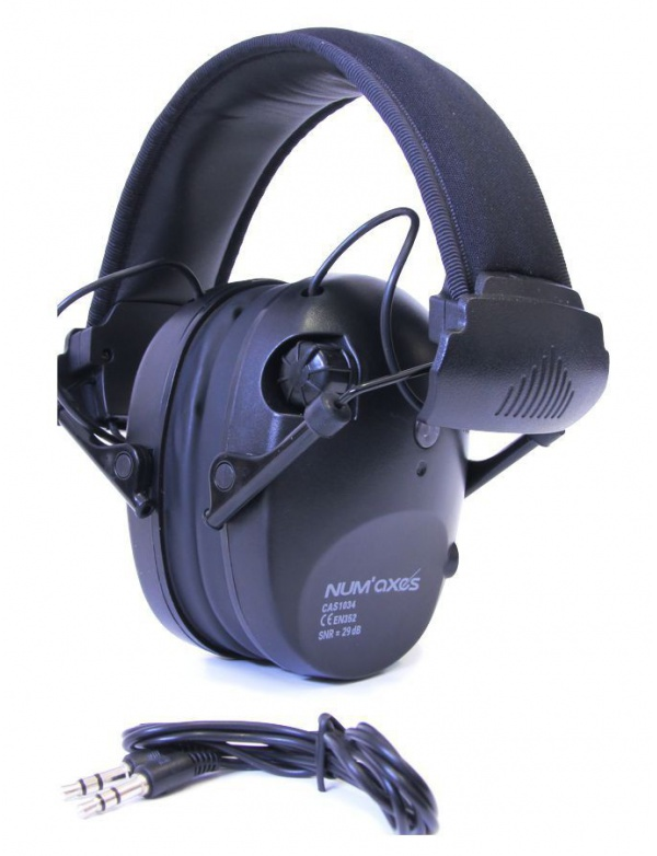 Sluchátka Numaxes - *CAS1034* střelecká a zesilující 3x -29dB, černé (NGCASELE003)