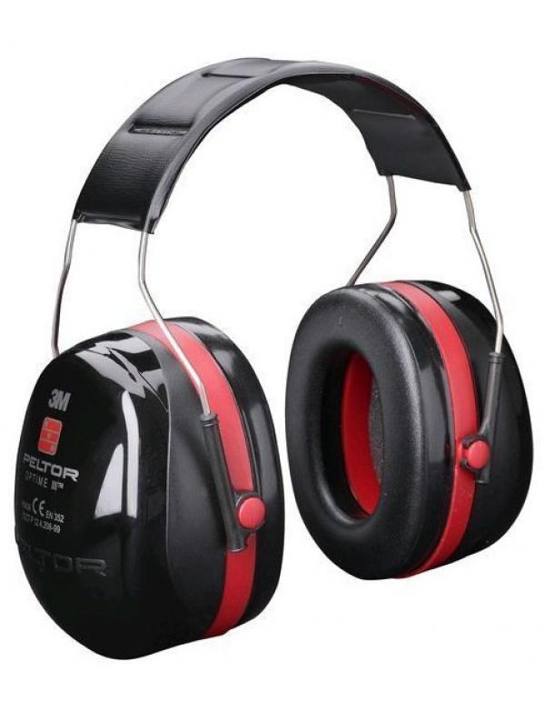 Sluchátka Peltor H 540 Optime III červené -(neskládací)