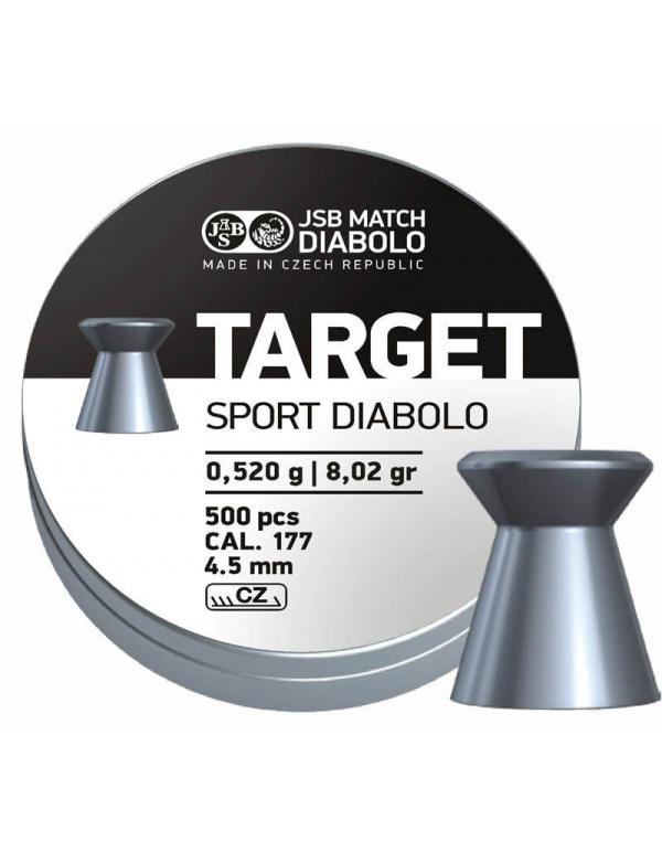 Diabolo JSB Match - Target Sport Diabolo, r. 4,5 mm, 500 ks (hmot. 0,520 g)
