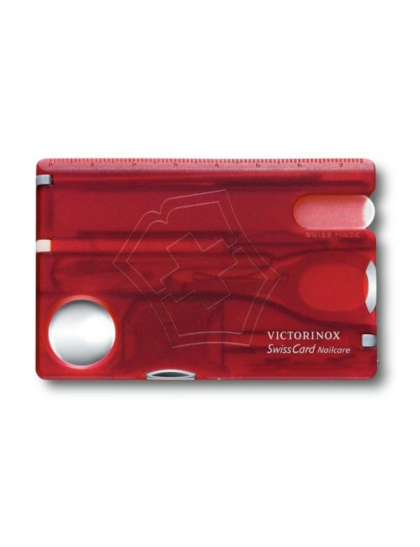 Karta na přežití Victorinox - typ 0.7240.T Swiss Card Nailcarre, červená