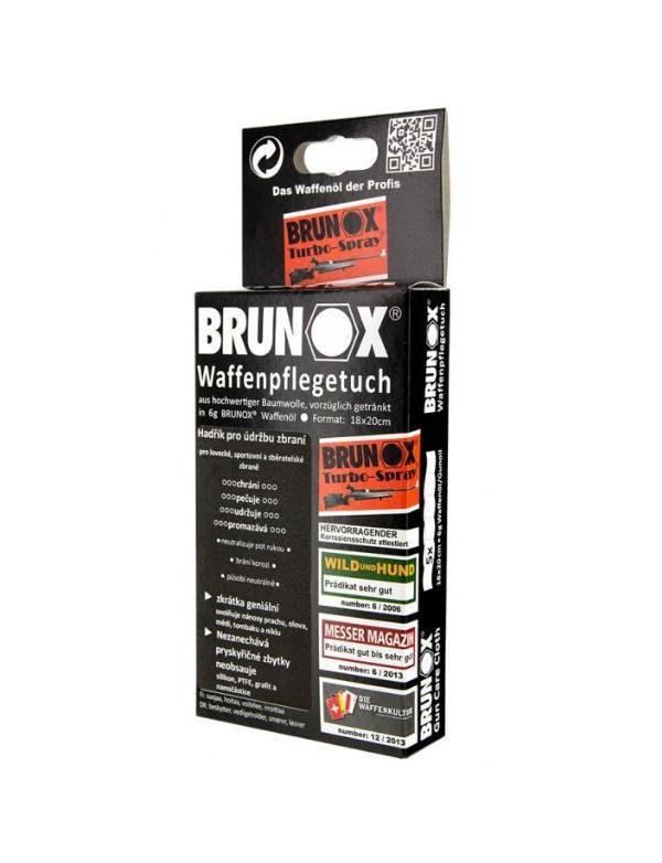 Olej Brunox - olejová utěrka na čištění zbraní (18x20cm) 5ks v balení (cena za balení)
