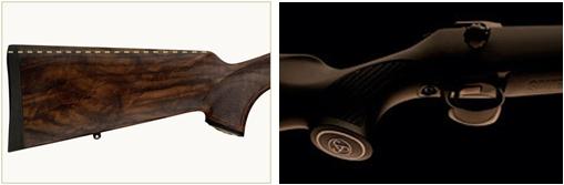 Nové pažbení nabízí komfort a přirozenost úchopu jak pravákům, tak levákům.