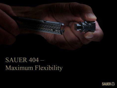 kulovnice opakovací Sauer S404 výměna hlavy závěru image foto