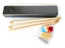 broková čistící sada MegaLine r.12, plastová krabička, skládací dřevěná tyč (08/012)