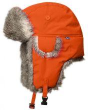 čepice FJÄLLRÄVEN - Värmland Heater (77340), ušanka s umělou kožešinou, barva 210 - Safety Orange