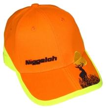 čepice NIGGELOH - s kšiltem, výšivkou, oranžová (0911 00050)