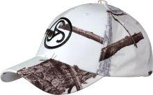 čepice SAUER - bílá, maskáčová kšiltovka s logem SAUER (Camo-Cap Snow)