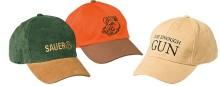 čepice Sauer - kšiltovka s logem-oranžová signální