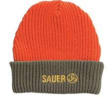 čepice Sauer - pletená, oranžová s Logem Sauer (9903000056)