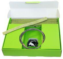 čistící sada JAKELE -  * Field-Kit * cal. .243 - 6,5mm, zelená