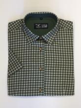 dámská košile Luko (194122) - zeleně kostičkovaná s krátkým rukávem