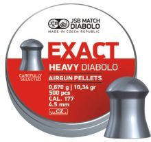diabolo JSB MATCH - Exact Heavy, r. 4,52mm/ 500ks (hmot. 0,670g)