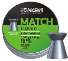 diabolo JSB - Green Match Light Weight, r. 4,5mm, 500ks (hmot. 0,475g)
