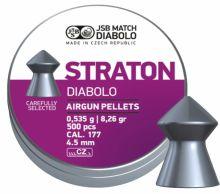 diabolo JSB - Straton cal.177, r. 4,5mm, 500ks (hmot. 0,535g)