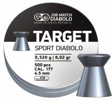 diabolo JSB - Target Sport Diabolo, r. 4,5 mm, 500 ks (hmot. 0,520 g)