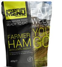 jídlo Adventure Menu - farmářská šunka s čočkovým ragú, 400 g, samoohřev