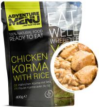 jídlo Adventure Menu - kuře Korma s rýží, 400 g, samoohřev