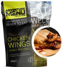jídlo Adventure Menu - kuřecí křídla na medu a chilli, 300 g , 100% maso, samoohřev